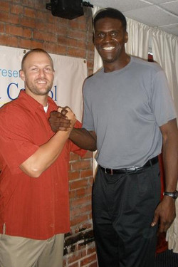 Chris with Orlando Woolridge