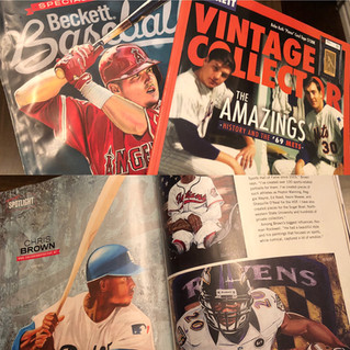 Featured in Beckett Baseball and Vintage Collector.