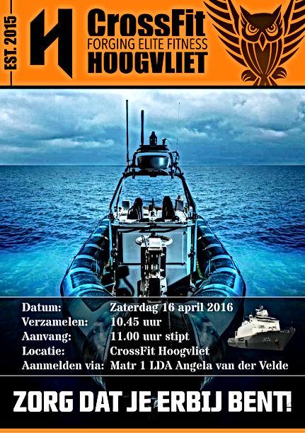 Koninklijke marine traint bij CrossFit Hoogvliet
