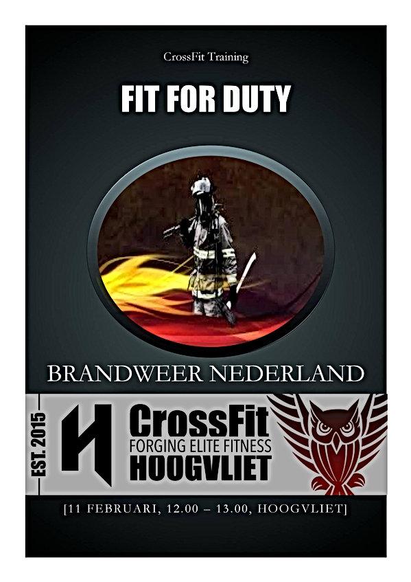 FitForDuty - Speciale training voor hulpdiensten bij CrossFit Hoogvliet