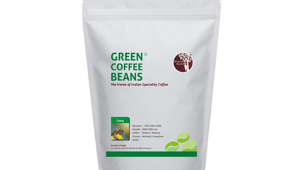 Woodi Peck's Coorg Green Coffee Beans Single Origin - 200 Grams