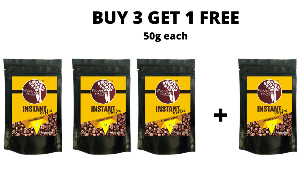 Woodi Peck's Instant Coffee Pack by, Buy 3 Pack & Get 1 Free