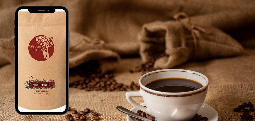 India's Favourite black coffee Woodi Pec
