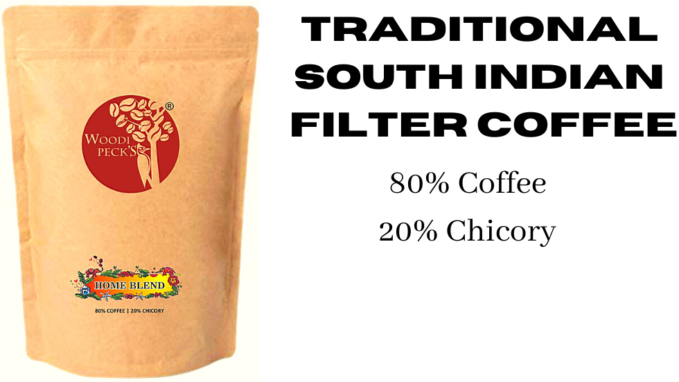 Woodi Peck's 80% coffee 20% chicory