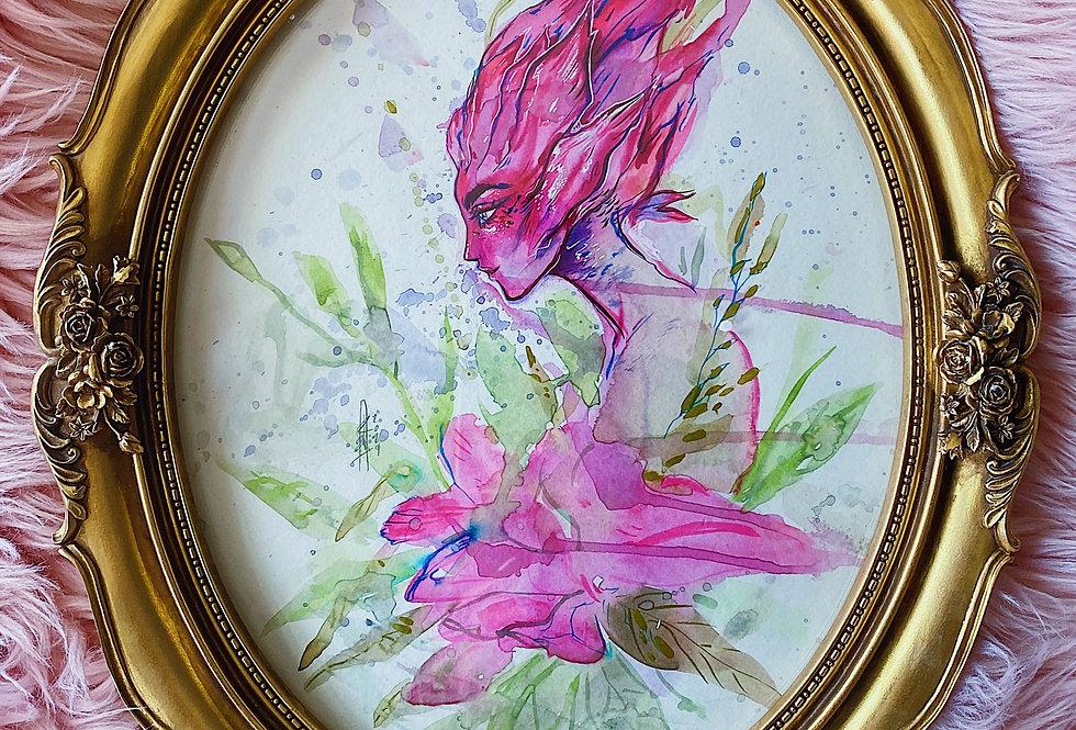 Bromeliad Fae - Watercolor