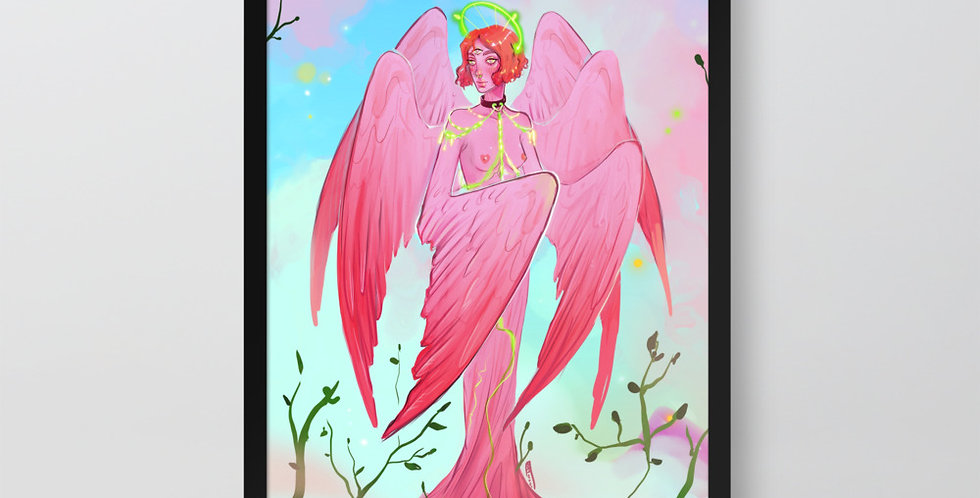 Goddess Nike - Framed Poster