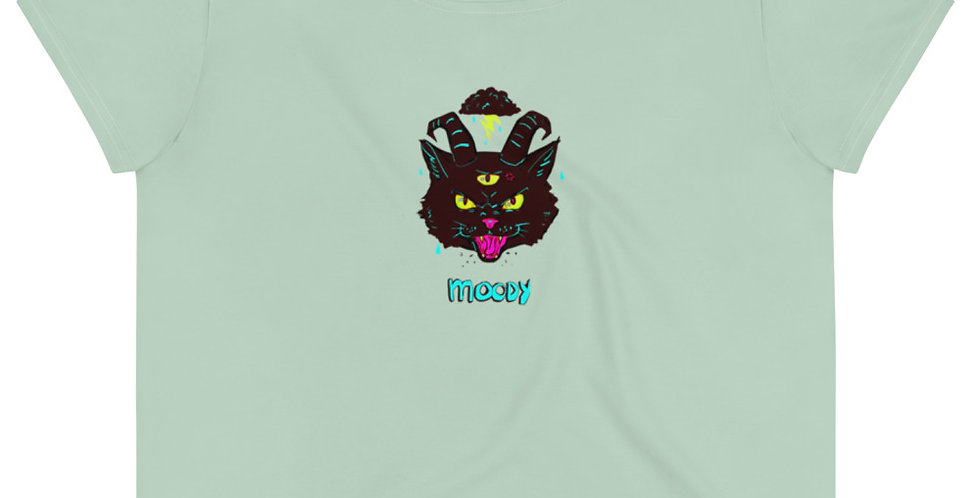 Demon Kitty Crop Tee