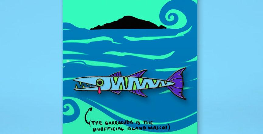 #SOSPROVIDENCE Glow In The Dark Barracuda Enamel Pin