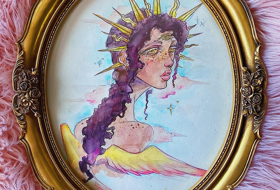 The Sun Herself -Watercolor