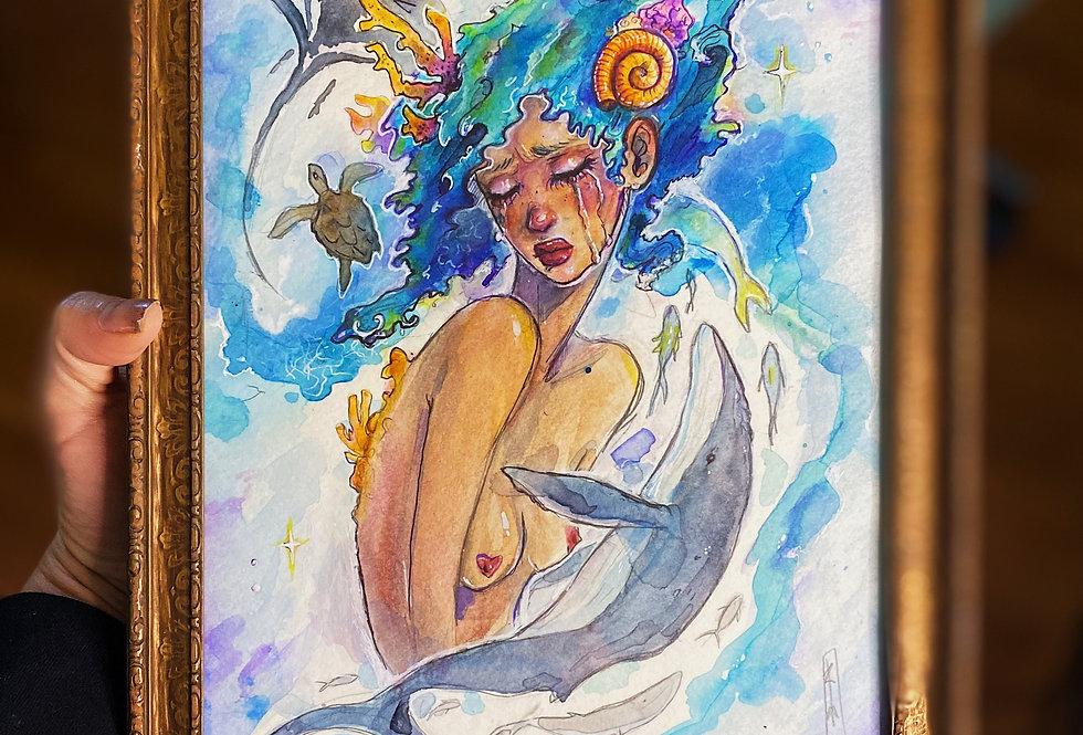 Oceans - 9x7 Watercolor