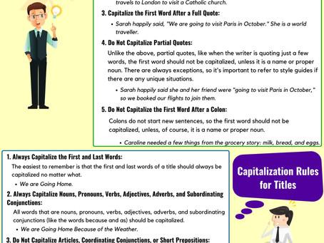Rules of Capitalization