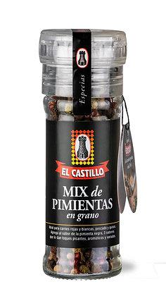 Molinillo Linea Black 40grs de Pimienta Mix en Grano