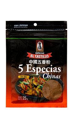 Zipper 25 grs de Cinco Especias  Chinas