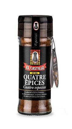 Frasco Linea Black 40 grs Cuatro Especias