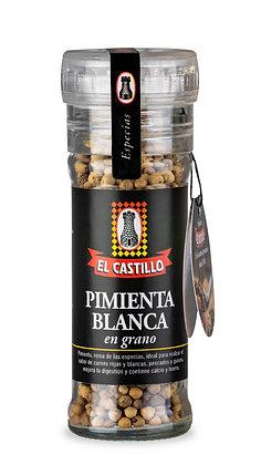 Molinillo Linea Black 45grs de Pimienta Blanca en Grano