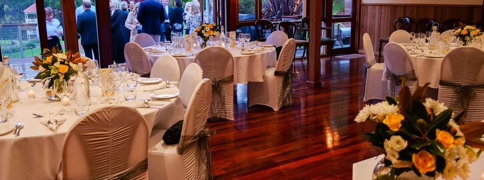 Round table set up wedding