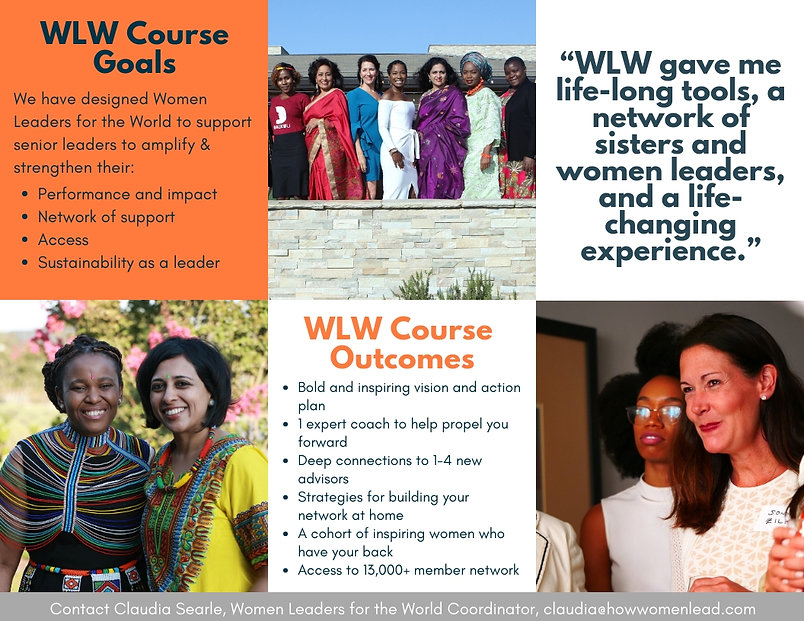 Women Leaders for the World (WLW) Course