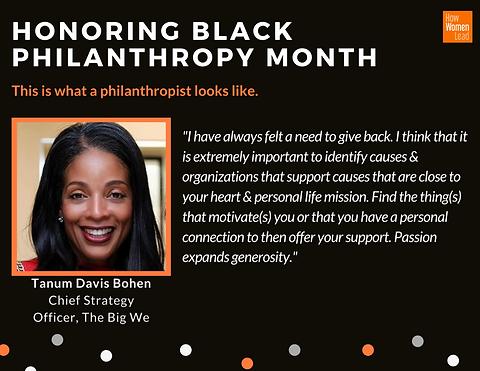Black Philanthropy Month-Social Campaign