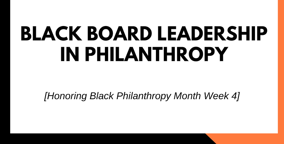 Black Board Leadership in Philanthropy