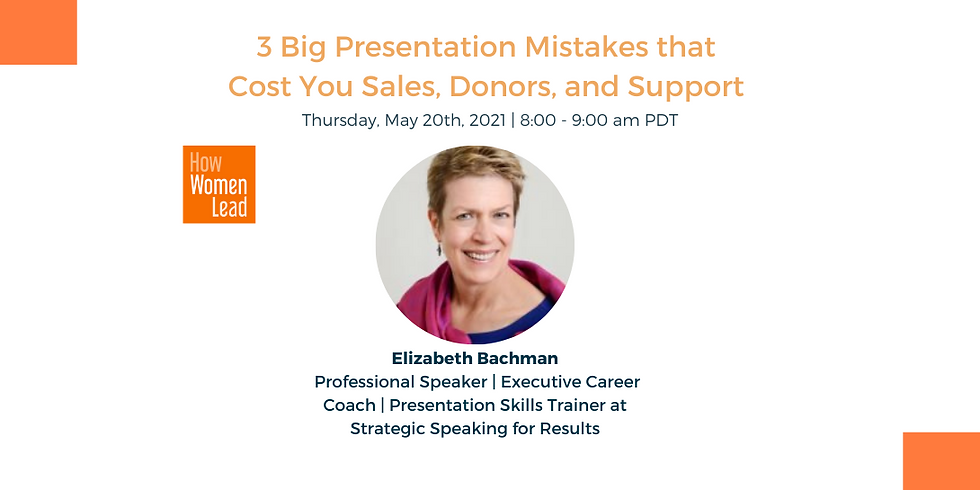3 Big Presentation Mistakes that Cost You Sales, Donors, and Support