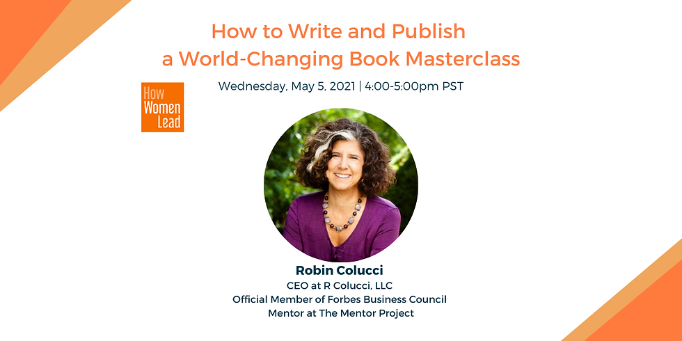 How to Write and Publish a World-Changing Book Masterclass