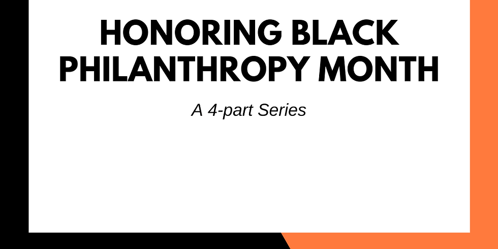 Honoring Black Philanthropy Month