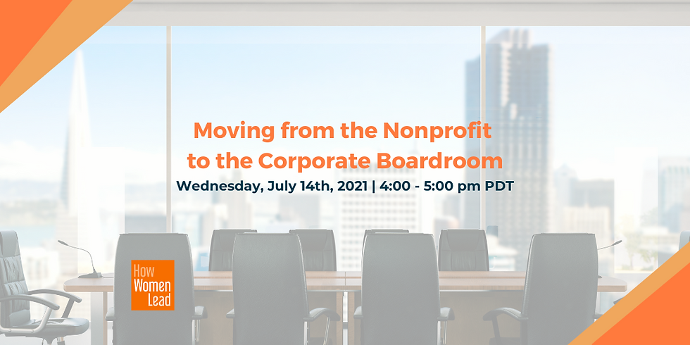 Moving from the Nonprofit to the Corporate Boardroom