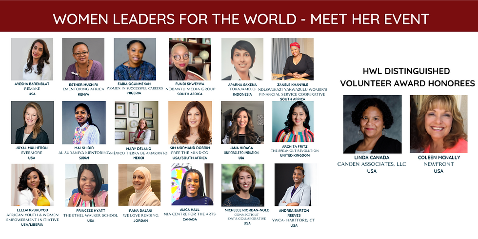 Celebrating the Women Leaders for the World Fall 2021 Fellows