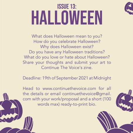 Call for Submissions: Issue 13: Halloween