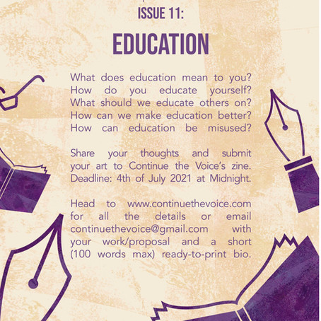 Submissions Open for Issue 11: Education