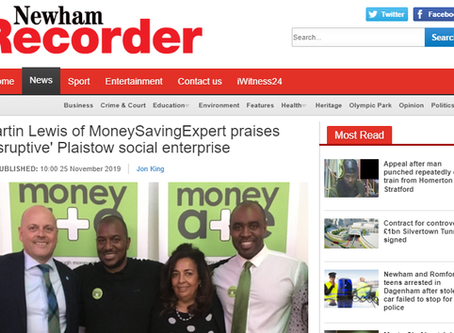 Our Money Mentors celebrate success with Martin Lewis and the Mayor of Newham