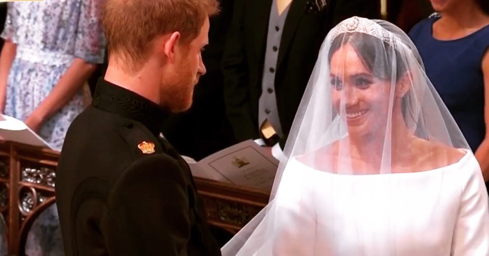 The Duke and Duchess of Sussex at their St. George's Chapel wedding