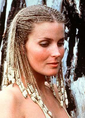 Actress Bo Derek wears cornrows in the movie 10
