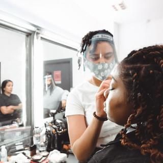 Make up room   MUA by Maia Pavord  Kelsey Gordon  Photography by Zahid Parkhetiya