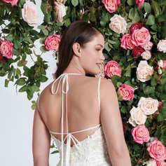Bikini Neckline Light English Net Dress STYLE 11092