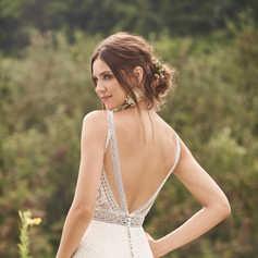 Kanten jurk met sierlijke details en gevormde Sleep STIJL 66136