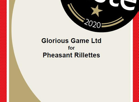 GLORIOUS GAME WINS GREAT TASTE AWARD!