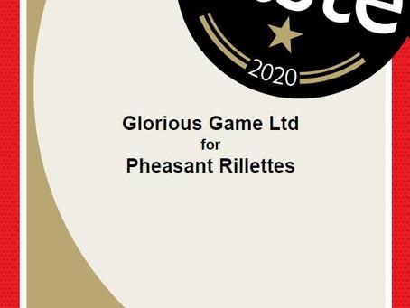 GLORIOUS GAME WINS GREAT TASTE AWARD!