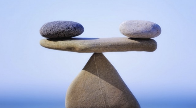 Balance equals peace health and vitality