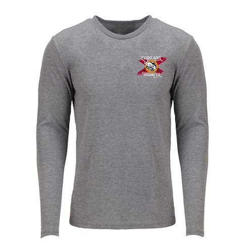 Tri- Blend Grey Long Sleeve Shirt