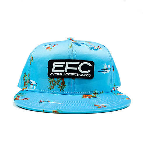 EFC Blue Tropical Flat Bill Hat
