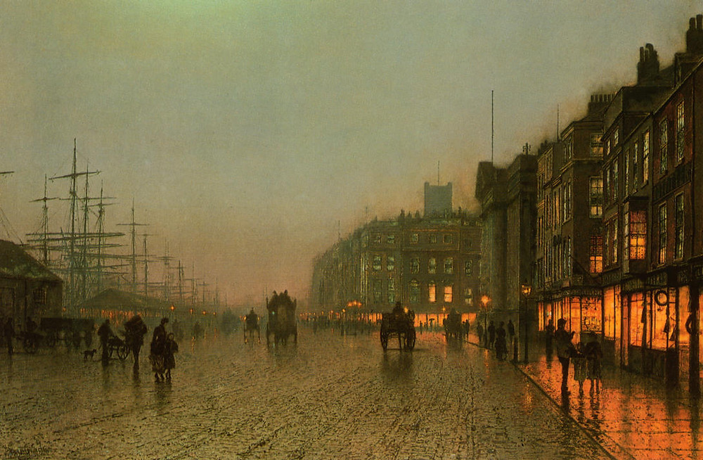 Liverpool from Wapping 1875, John A Grimshaw, Philadelphia Museum of Art