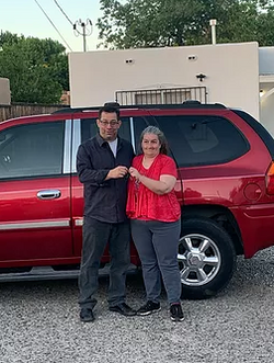 we were able to get her a vehicle