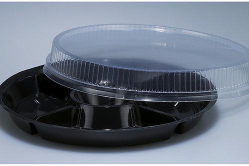 Fondue-Chinoise Teller PS, schwarz, 200 Stk. 26 cm