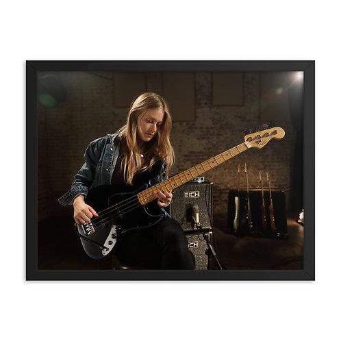 Nicole Row Jazz Bass - Framed