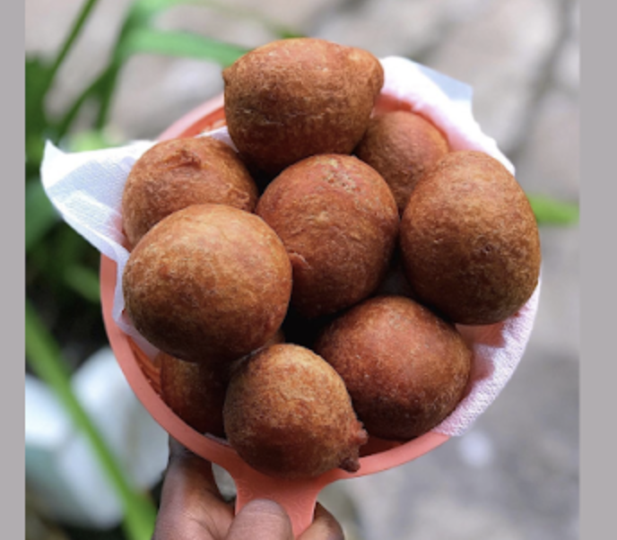 Boflot balls made from sweetened fried batter