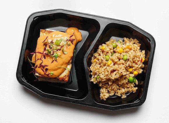 High Protein Tofu with Satay Sauce