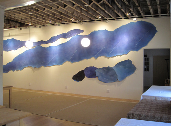 THIS IS NOT WATER, installation at Brooklyn Zen center, 3 X 11 yard
