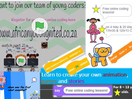 Our free online coding lessons continue!