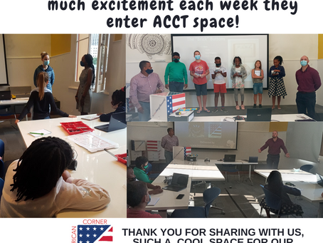 A BIG THANK YOU TO AMERICAN CORNER CAPE TOWN